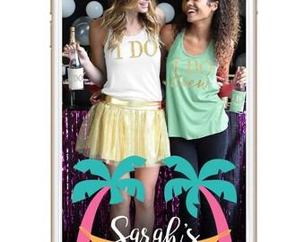 Bachelorette | Palm Trees Beachy Theme | Custom Snapchat Geofilter