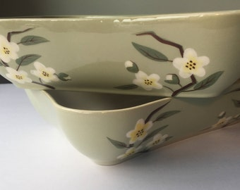 Weil Ware Blossom 2 Serving Bowls