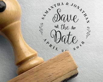 SAVE THE DATE Stamp, Custom Save The Date Stamp, Wedding Date Stamp, Save The Date Stamp Big, Custom Save The Date