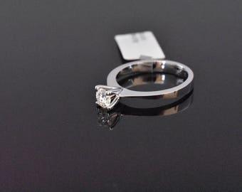 18K White Gold GIA Certified Diamond Solitaire