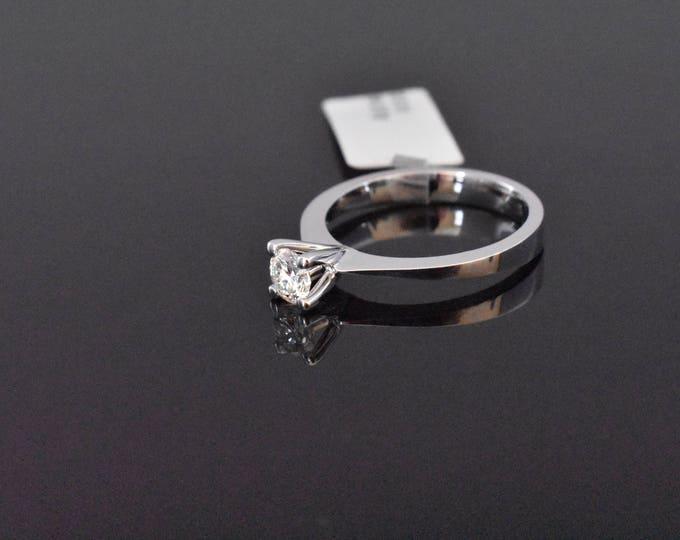 18K White Gold GIA Certified Diamond Solitaire