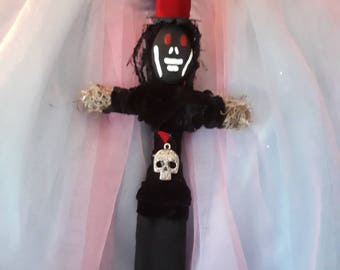 Voodoo Doll Papa Legba, authentic and original New Orleans inspired, a Los and altar doll important intermediary between voodoo and humanity