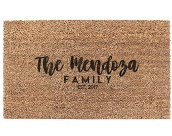 Custom Door mat Doormat Welcome Mat Personalize Door Mat Customized Doormat Housewarming Gift
