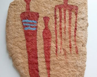 Ancient Reproduction Pictograph Native American Indian Rock Art Fremont Figures