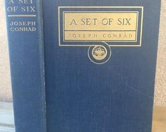 A Set of Six, by Joseph Conrad, Vintage book copyright 1915