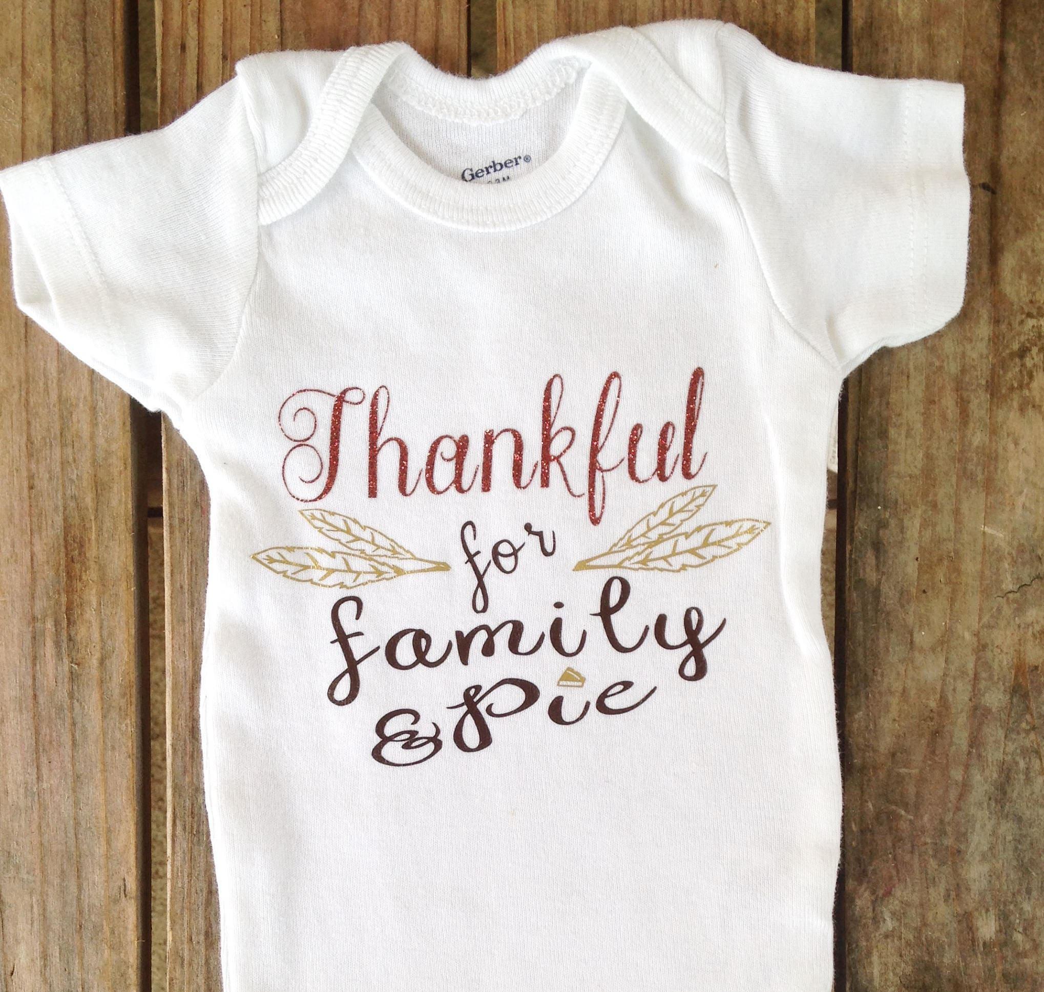 Thankful Baby Onesie Thanksgiving Onesie Boy Or Girl Onesie