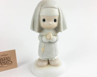 Vintage Precious Moments Get Into The Habit Of Prayer Figurine 12203