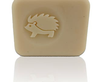 """3D Hedgehog Soap Stamp - Footprint: 1.57"""" (40mm) diameter - with or without handle"""