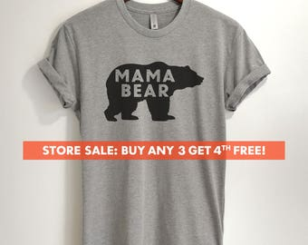 Mama bear tee etsy mama bear t shirt ladies unisex crewneck shirt awesome mom t shirt publicscrutiny Image collections