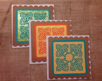 Speciality Hmong Cards - Glitter Flower Cloth