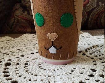 Cup Cozy - Mocha Bunny