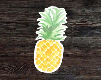Pineapple Decal - Pineapple Vinyl Sticker - Watercolor Pineapple Decal - Car Window Decal - Laptop Sticker - Tumbler Decal
