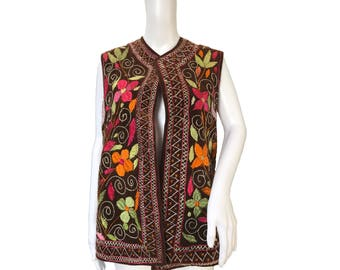 1970s Embroidered Waistcoat