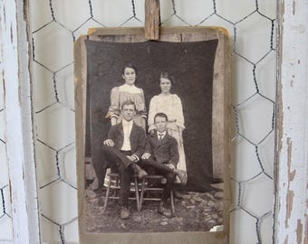 Antique Cabinet Card Photo. Siblings, Early 1900s Collectible Photo, Homestead, Scrapbooking, Antique Collection, Antique Photo, Victorian