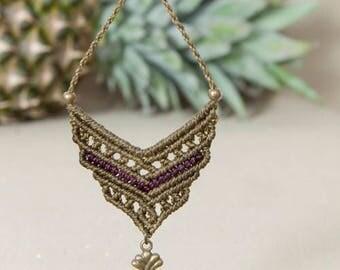 Macrame Necklace, handmade jewelry
