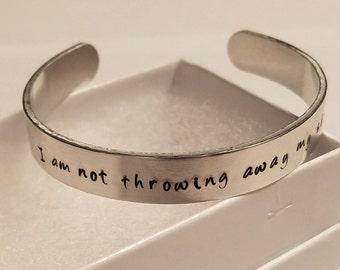 I Am Not Throwing Away My Shot Hamilton inspired bracelet