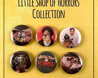 """Little Shop Of Horrors 1"""" Pinback Button Collection - Set of 6"""