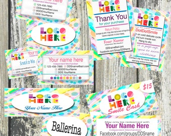 Clothing Merchandiser Marketing Kit With Rainbow Swirl, Large Kit, Printable, Digital, Boutique