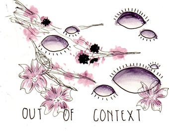 Out of Context- watercolor print
