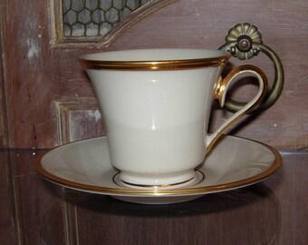 Lenox Eternal Cup  and Saucer Gold Trim