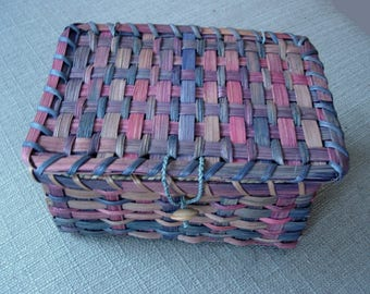 Handwoven Treasure Basket with Lid