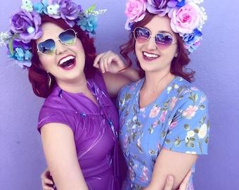 Spring Purple Flower Crown
