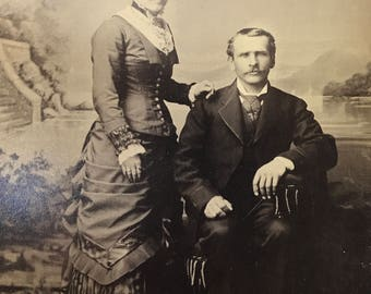 Early 1900's | Man & Women Portrait | sepia colored photo