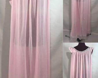 1960's   Carol Brent   Vintage Nightgown