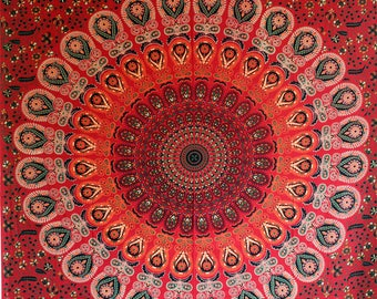 Mandala Tapestry Wall Decor Twin Bedding Geometry Wall Hanging Wall Tapestries Dorm Decor Bedroom Wall Art Bohemian Decor Boho Art Bed Cover