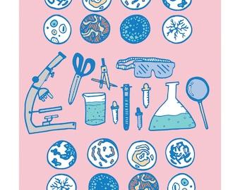 A4 STEM themed print.