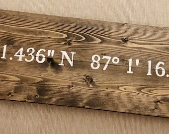 Custom Coordinate Sign, Personalized Coordinate Sign, Latitude and Longitude Sign, Personalized Address Sign