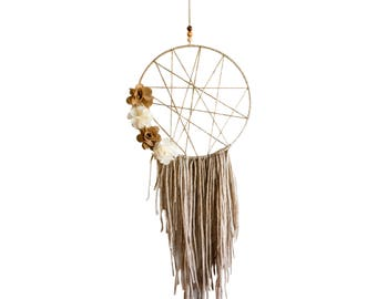 Neutral Dream Catcher,Wall Hanging,Wall Decor,Gift For Her,Baby Shower Gift,Nursery Decor,Dorm Decor, Valentines Day,Yoga Studio Decor