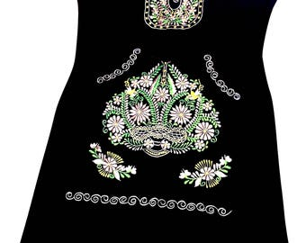 Mexican embroidered dress 04