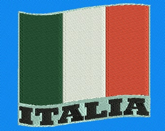 Embroidery Italy flag and Coat of Arms