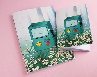 BMO / Adventure Time / BMO Notebook / Adventure Time Notebook / Kids Notebook / Adventure Time art / Adventure Time print / Fan art.