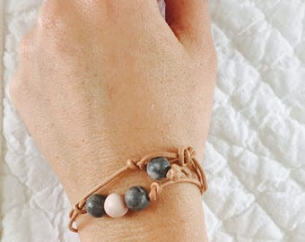 Double Wrap Bracelet or Small Choker