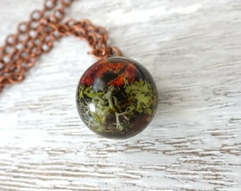 Moss pendant,terrarium pendant,nature jewelry,terrarium jewerly,botanical Jewellery,nature pendant,unique jewelry,forest breath,forest style