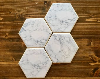 Faux Marble Coasters (set of 4)