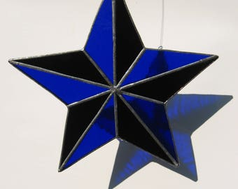 blue and black 5 point star