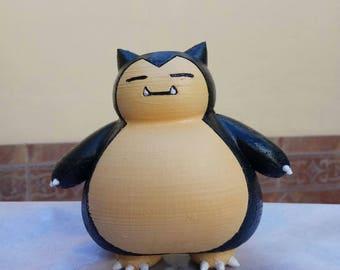 Snorlax Pokemon 3D print hand PLA FrikiprintES Impresora
