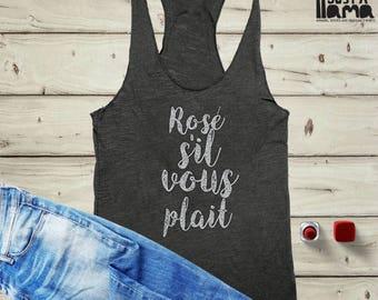 Wine Tank, Wine Shirt, Rose Tank, Vino Tank, T, Womens Wine Shirt, Workout Tank, Funny Workout Tank, Funny Gym Tank, Yoga Tank, Chardonnay