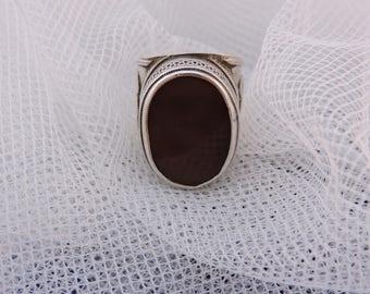 Vintage Tribal Turkish Kuchi Afghanistan Silver Carnelian Ring