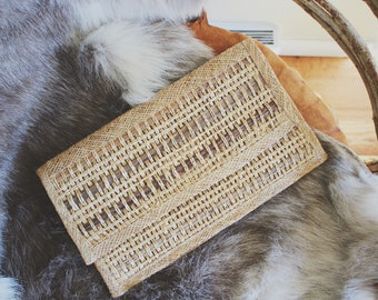 vintage woven clutch purse boho bag clutch bag woven bag clutch purse vintage rattan bag handmade handwoven bag clutch evening bag festival