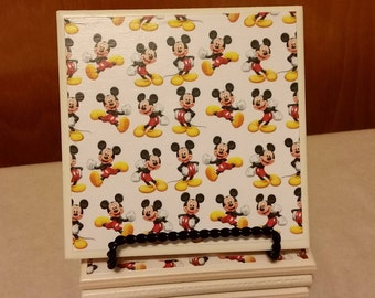 Mickey Mouse set of 4 ceramic coasters