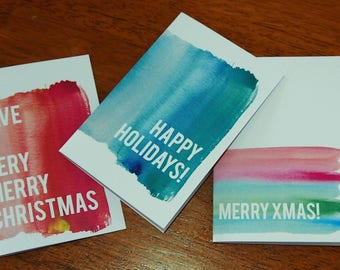 5 pack Christmas cards - mixed