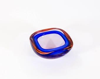 Murano Geode bowl - blue and purple