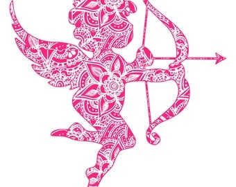Digi-tizers Cupid Zentangle (SVG Studio V3 JPG)