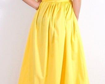 Long dress in yellow