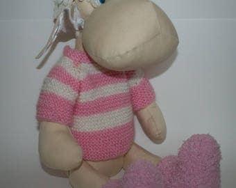 Pony, horse, handmade, fabric pony ca. 44 cm