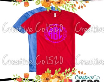Feather Monogram T-Shirt | Custom Tee |  T-Shirt With Sayings | Tees | Lettered T-Shirt | T-Shirts | Custom Shirt | Tops | Monogrammed Tee